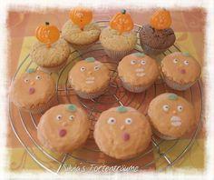 Silvia's Tortenträume: Zitronenmuffins Halloween Zitrone Muffins  Kürbis