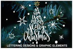 Christmas Lettering Quotes & Clipart Graphics This set of 40 hand drawn lettering designs with Christmas and New Year phrases and 45 cute graphic by PicByKate Business Illustration, Pencil Illustration, Graphic Illustration, Illustrations, Hand Drawn Lettering, Lettering Design, Chalk Lettering, Lettering Ideas, Christmas Clipart