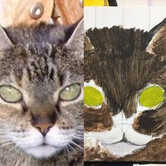 #meowMonday meet Yenta off the playground and sitting on my easel. I love her mesmerizing eyes.  Did you begin any new projects this weekend?