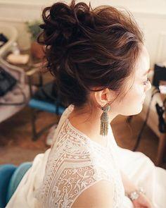 @fujiko0207 の結婚パーティーのスタイルはお団子風高めシニヨンでした hair/yuudai