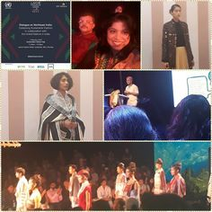 One of the fortunate ones to be a part of the Lakme Fashion Week at BKC  today.  An excellent discussion on Fashion n Sustainability followed by Runway of fabrics from the North East - India. Thanks Joydeep Ghosh for the invite.