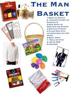 Diy Easter Basket For Him Boyfriend Husband Fiance Holiday