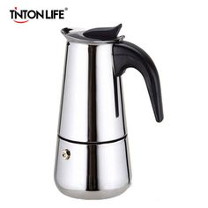 US $9.90 - 19.90 Top Quality Hot Sale 2/4/6/9 Cups Stainless Steel Moka Espre sso Latte Percolator Stove Top Coffee Maker Pot