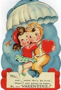 Vintage Valentine Boy and Girl