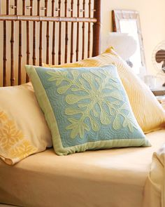 Quilted Pillow Cover  Hawaiian-inspired prints add a tropical feel to quilted pillows that can be thrown on a bed or couch during the warmer months.  Pillow How-To