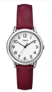 Timex Women's Red Leather Strap Watch | Citizen Watches For You And Her