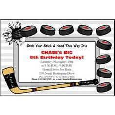 Montreal Canadiens Hockey Theme Birthday Party Invitations Ticket