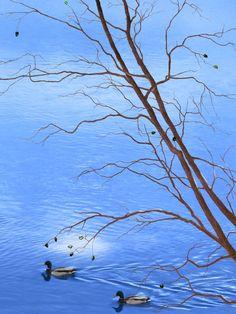 Zen Tree - Autumn Waterscape