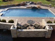 20'x40' Rectangle with 2ft Radius Corners Inground Swimming Pool in Illinois