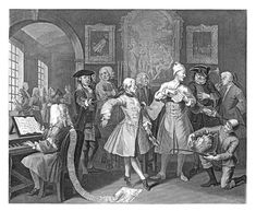 William Hogarth, The Rake's Progress, 1734. Plate 2: Surrounded by Artists & Professors, etching