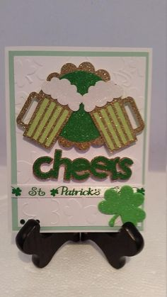 Birthday Numbers, Birthday Cards, St Patrick's Day Photos, Pop Cubes, St Patricks Day Cards, Cricut Cards, Punch Art, Paper Cards, Greeting Cards Handmade
