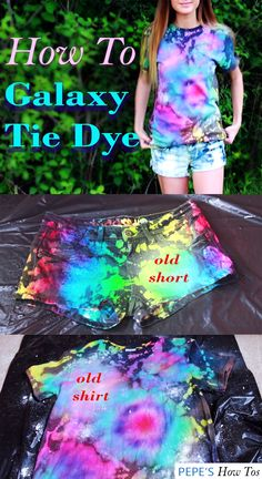 bleach tie dye diy shirts tutorials boy tie dye shirts tie dye a black shirt Tye Dye, Fête Tie Dye, Tie Dye Party, Bleach Tie Dye, How To Tie Dye, Bleach Hoodie, Tie Dye Shoes, Bleach Pen, Tie Dye Crafts
