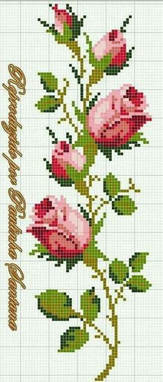 Roses cross stitch. |