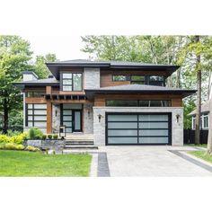 Contemporary House Plans, Modern House Plans, Modern Home Exteriors, Modern Exterior House Designs, Home Building Design, Building A House, House Colors, Exterior Design, Future House