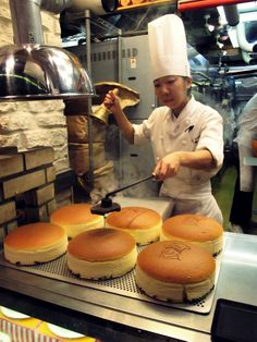 best bake cheese cake in the world! namba, osaka, japan.