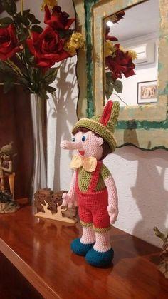 Pinocchio Amigurumi Muster Pinocchio Spanisch Muster Patron pinocho amigurumi Source by berlijntoet Crochet Animals, Crochet Toys, Crochet Baby, Free Crochet, Knit Crochet, Crochet Dolls Free Patterns, Amigurumi Patterns, Amigurumi Doll, Pinocchio