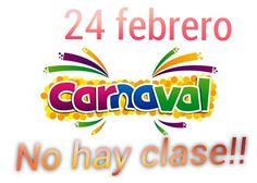 Este viernes de carnaval no hay cole. Feliz semana!!!