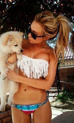 I want a fringe bathing suit like this!