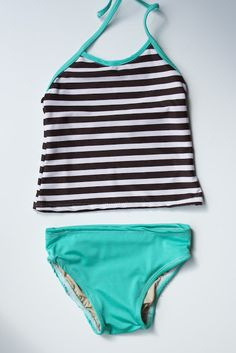 cbad2e28e1724 Toddler swimsuit tutorial. One or two piece options. Because the suits in  the store