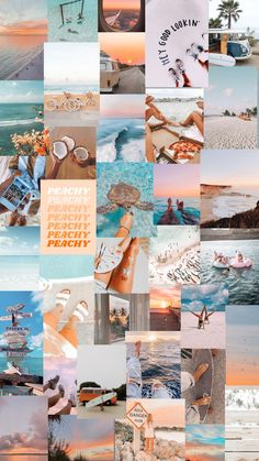 Look Wallpaper, Summer Wallpaper, Iphone Wallpaper Tumblr Aesthetic, Cute Patterns Wallpaper, Iphone Background Wallpaper, Aesthetic Pastel Wallpaper, Aesthetic Wallpapers, Collage Mural, Collage Background