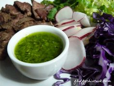 Quick and easy low carb keto Chimichurri Sauce - brightens up any grilled or pan seared meat or seafood. YUM!