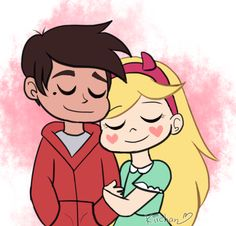 Starco by Kira-Nyan on DeviantArt Cartoon Wallpaper, Iphone Wallpaper, Starco, Couple Wallpaper, Star Butterfly, Star Vs The Forces Of Evil, Force Of Evil, Cute Wallpapers, Star Wars