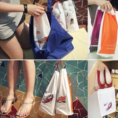 Waterproof travel shoes bag set of 2 Weight: Material: EVA + cotton rope Size: 220 X 1 pack contains two different styles of bag, ideal when travelling, on vacation or go for swimming. Shoe Bags For Travel, Travel Shoes, Cotton Rope, Different Styles, Gym Bag, Sandal, Swimming, Personalized Items, Travelling