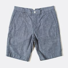 An easy cut in a lightweight fabrication, Raleigh's chino shorts are a great option this summer. Easily paired with any of your office and day-off apparel, these shorts are the perfect mix of casual and formal. Finished with a notched waistband, trouser pockets and a button closure. Medium rise. 100% cotton. Wash separately inside out in cool water. Made in the United States.