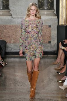 Emilio Pucci - If Emilio says to be a hippy... #Spring15 #SS15 #PFW #collection #catwalk #fashion #style #fashionweek #bogo #suede #70s