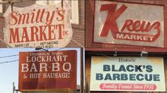 A road trip to Lockhart, TX - for Barbecue specifically at these places! Black's BBQ is fabulous! Lockhart Bbq, Lockhart Texas, Texas Bucket List, Bbq Places, Bbq Signs, Texas Vacations, Hot Sausage, Texas Bbq