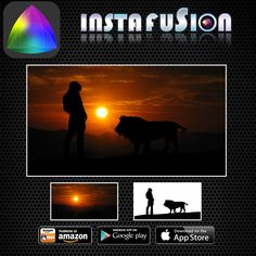 Instafusion Image Blender #blending #blend #blender #digiart #digitalart #mixtures #double #30days #quickstart #newbie #socialmedia #marketing #downloads #HowTo #image #imagine #creative #photo #cool #canon #Facebook #photoapps #apps ------------------ Amazing silhoutte created with blending mankind and wildlife using Image Blender Instafusion app!!   https://play.google.com/store/apps/details?id=com.techbla.instafusionfree