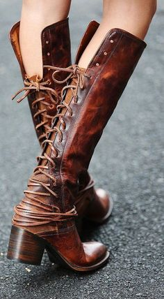 Lace-Up Boots ❤︎ L.O.V.E. now these boot!! OMG..  color and everything!!