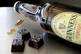 Beer + Dark Chocolate truffles: organic dark chocolate, cream and Guinness Stout Beer