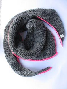 Trendy châle gris et fluo rose Apprendre Le Tricot, Tricot Facile, Facile À  Tricoter f2b1f574f0d9