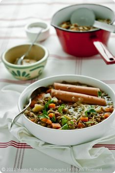 What's For Lunch Honey? | Experience Your Senses: Cooking School: German Lentil and Sausage Stew