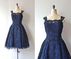 Anciens et Nouveaux dress  vintage 1950s dress  lace by DearGolden