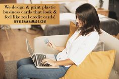 Credit card business cards can be customized with your info. The best plastic business cards hands down - holographic foil, embossed numbers & more.
