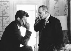 Jack Kennedy and Lyndon Johnson