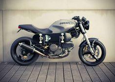 Bike1 Custom Ducati Motorcycle with Built In Skateboard Rack
