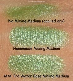Homemade Mac mixing medium. This is a great site about makeup in general.