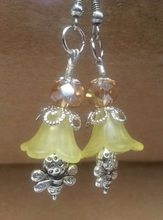 Check out this item in my Etsy shop https://www.etsy.com/listing/250612885/yellow-flower-dangle-earring-with-bumble