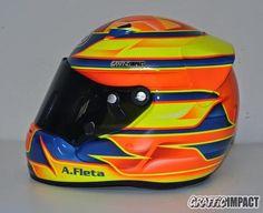 Personalización del casco de karting Arai de Ale Fleta