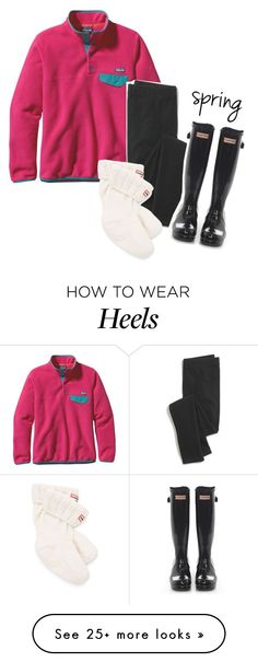 """""""we-keep-our-heels-down"""" by perfecly-equestrian on Polyvore featuring Patagonia, Madewell and Hunter"""
