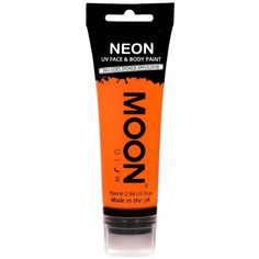 Moon Glow 75ml Neon UV Face Body Paint Intense Orange (178.230 IDR) ❤ liked on Polyvore featuring beauty products and bath & body products