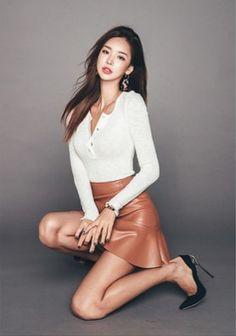 Stitch Line Detail Slim Fit Dress Beautiful Asian Women, Beautiful Models, Pretty Asian, Skirt Fashion, Fashion Outfits, Womens Fashion, Korean Beauty, Asian Beauty, Slim Fit Dresses