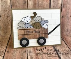 Bella and Friends, Crate thinlits, Wood textures, wood words, Stamping Up