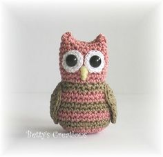 Cute free owl pattern. Tiny. In some Scandinavian language, but google translates it pretty well. Also cute kitty pattern on same site.
