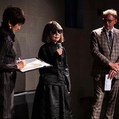Rei Kawakubo COMME des GARÇONS receiving the 2019 Isamu Noguchi Award, New York, 3 May 2019.  Photograph by Benjamin Lozovsky for BFA.… Isamu Noguchi, Rei Kawakubo, Awards, Photograph, New York, Punk, Instagram, Style, Fashion