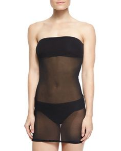 Convertible Sheer Bandini Top by Luxe by Lisa Vogel at Neiman Marcus.