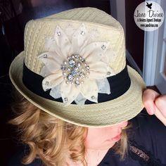 Floral Bling Fedora Hat